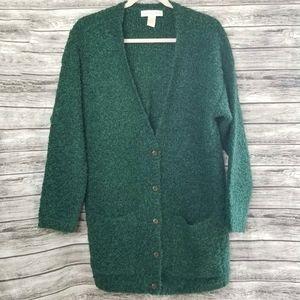 Vintage Cape Isle Knitters Chunky Emerald Cardigan